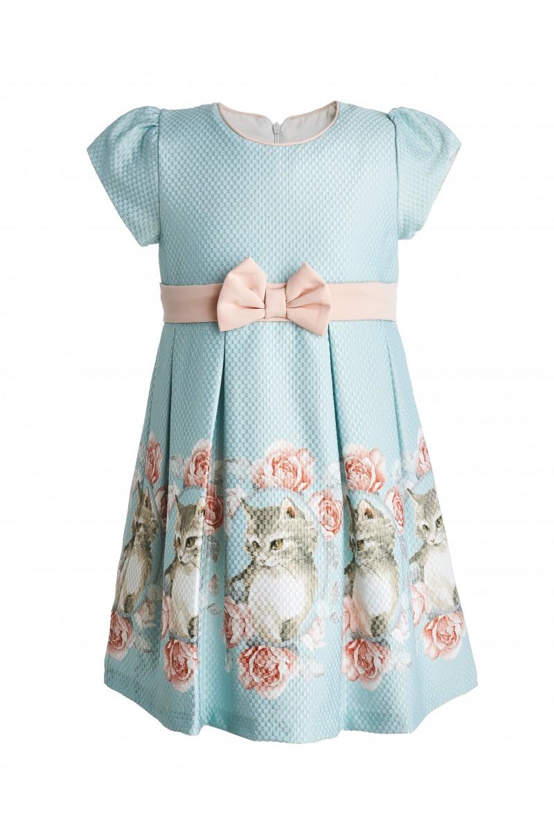 Хлопковое платье мятного цвета
