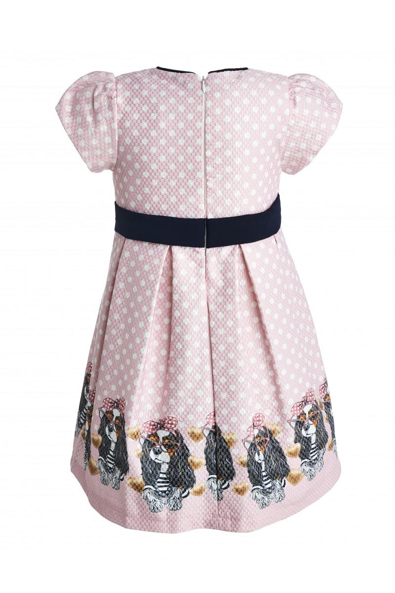 Нарядное  платье розового цвета