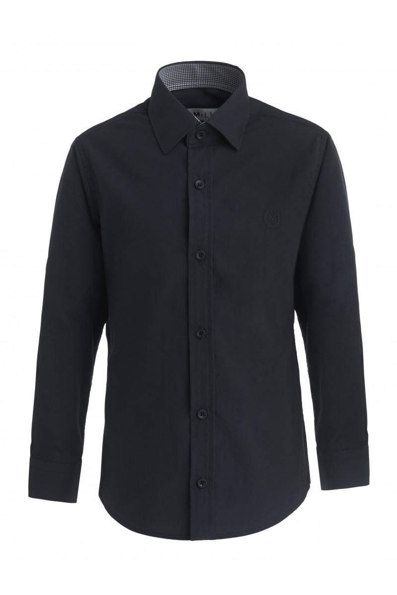 Приталенная рубашка черного цвета