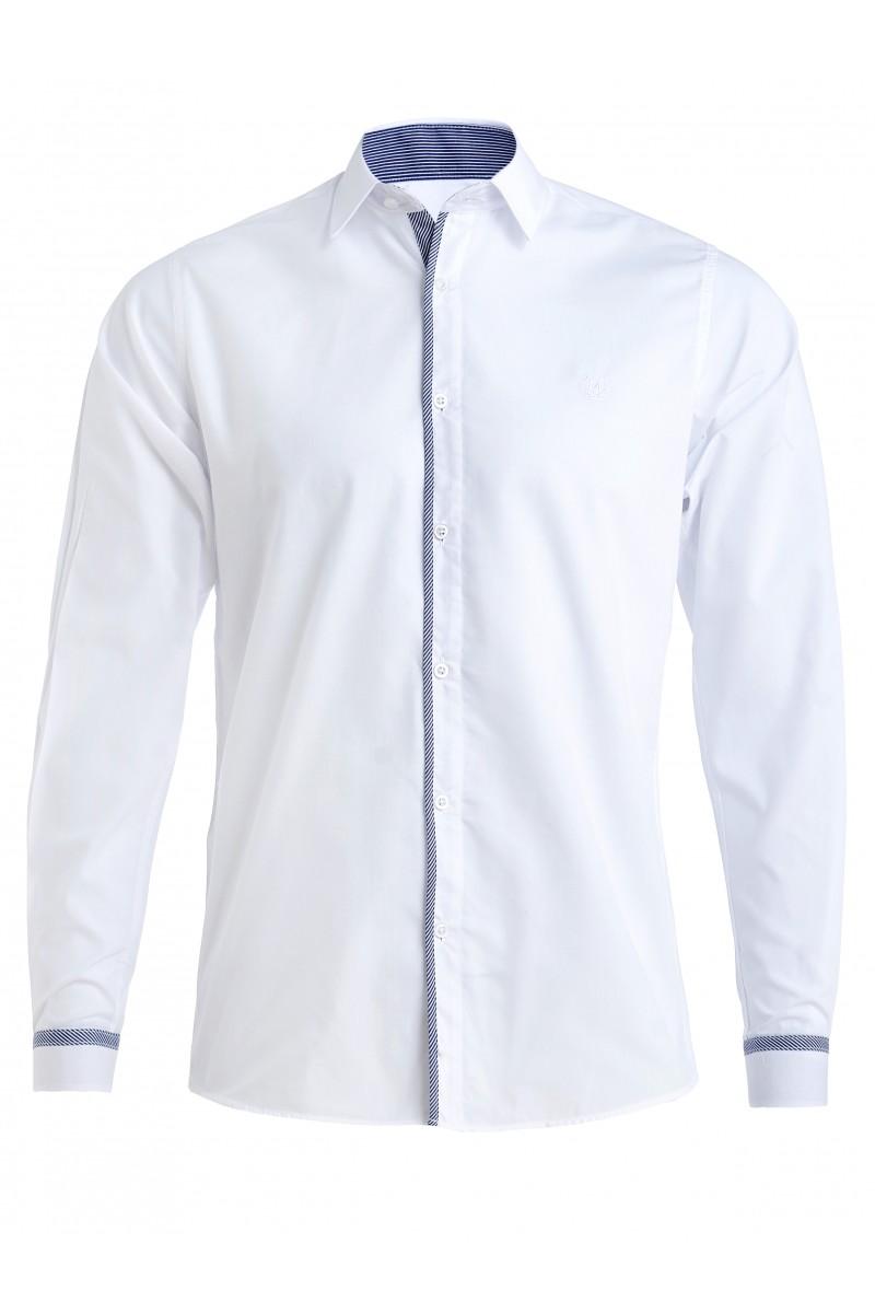 Приталенная рубашка белого цвета