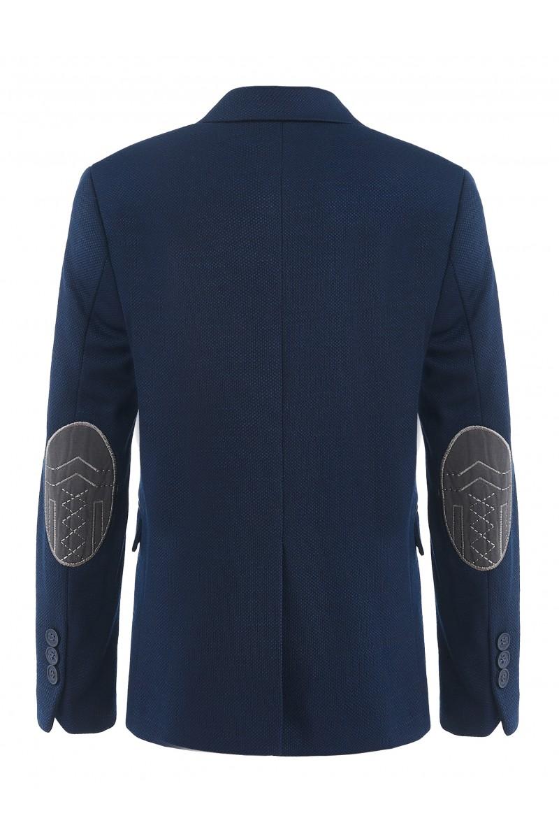 Приталенный пиджак синего цвета