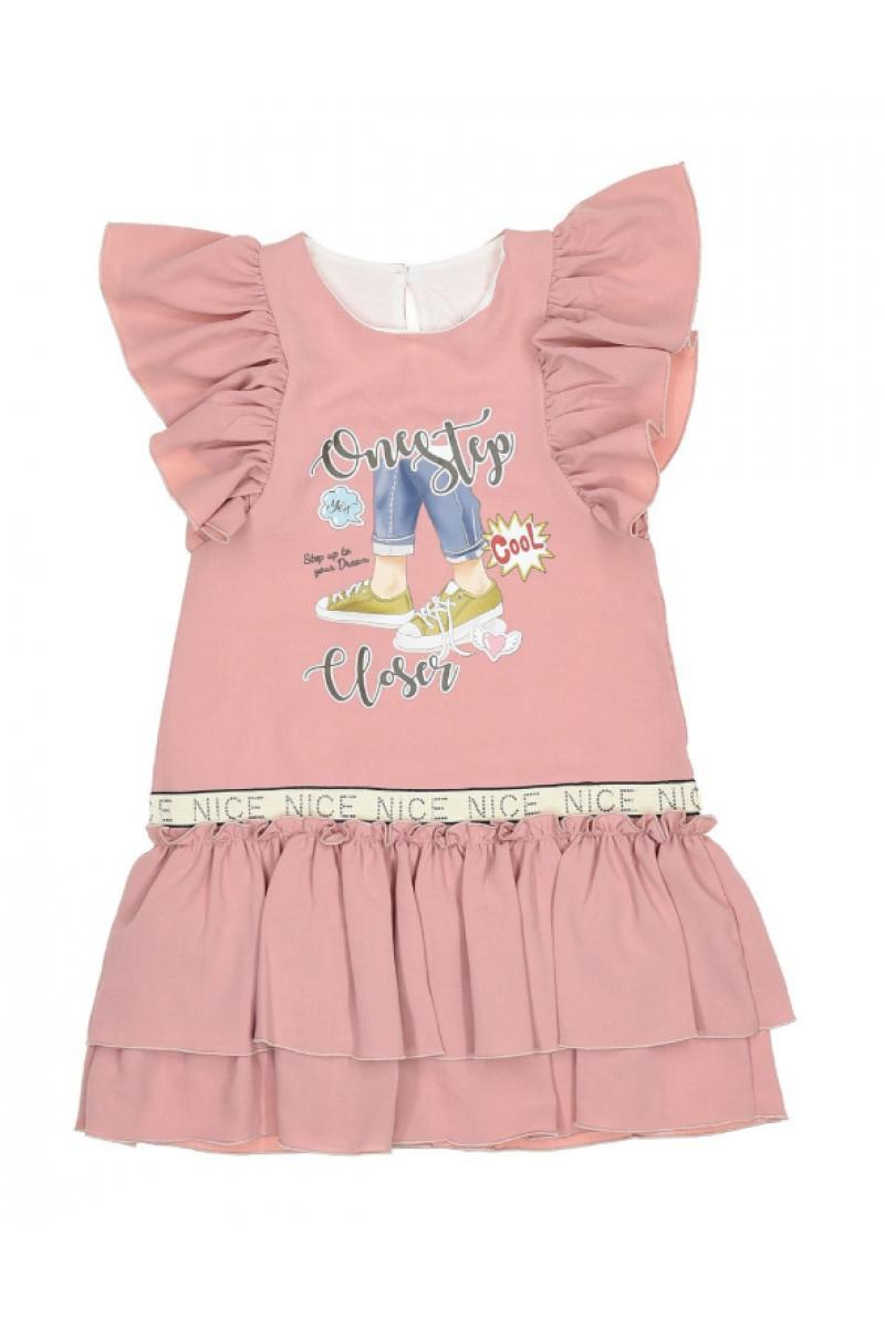 Нежное платье для девочки розовое