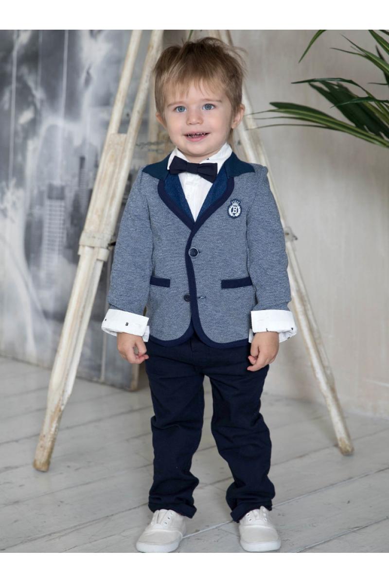 Костюм для мальчика с классическим пиджаком синий