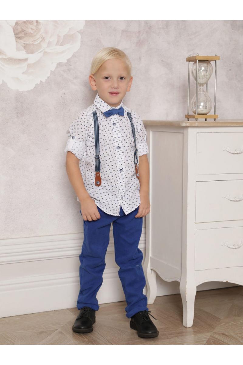Костюм для мальчика в комплекте с бабочкой синий