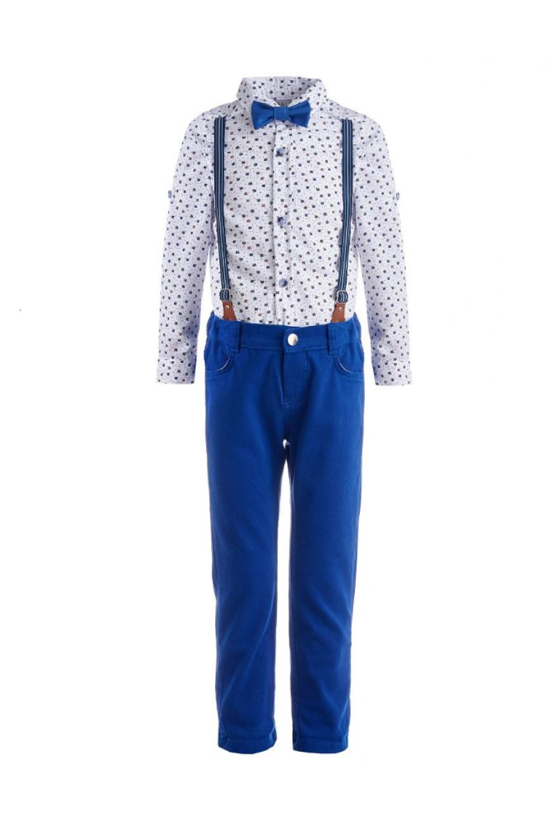 Костюм для мальчика в комплекте с бабочкой  ярко-синий