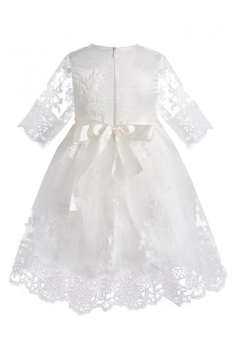 Платье с коротким рукавом кремовое