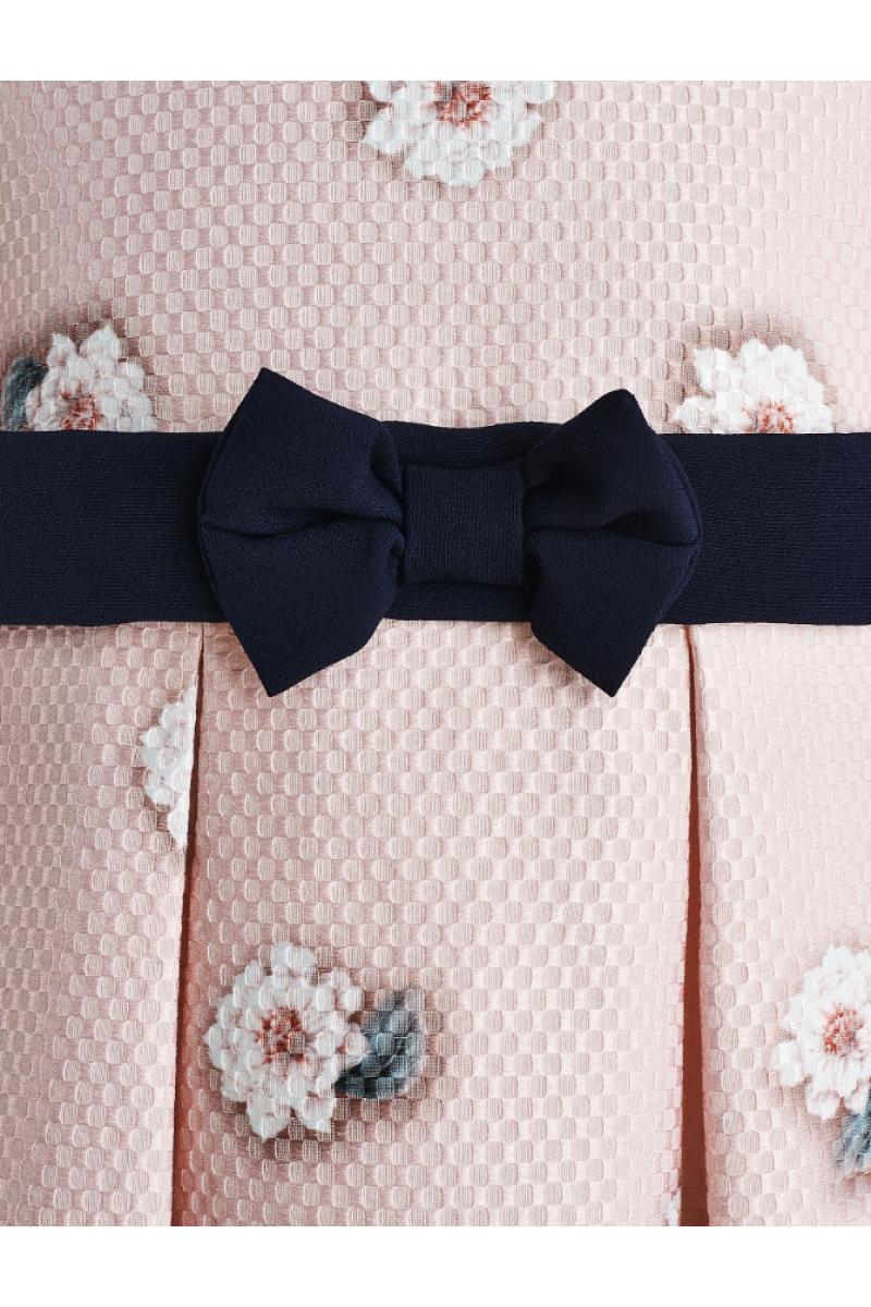 Очень красивое платье с маленькими мишками розовое