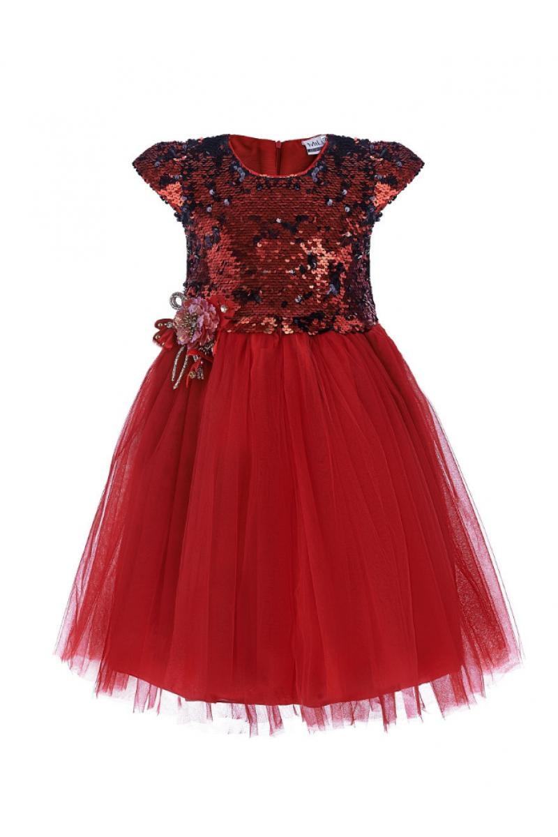 Современное модное платье красное