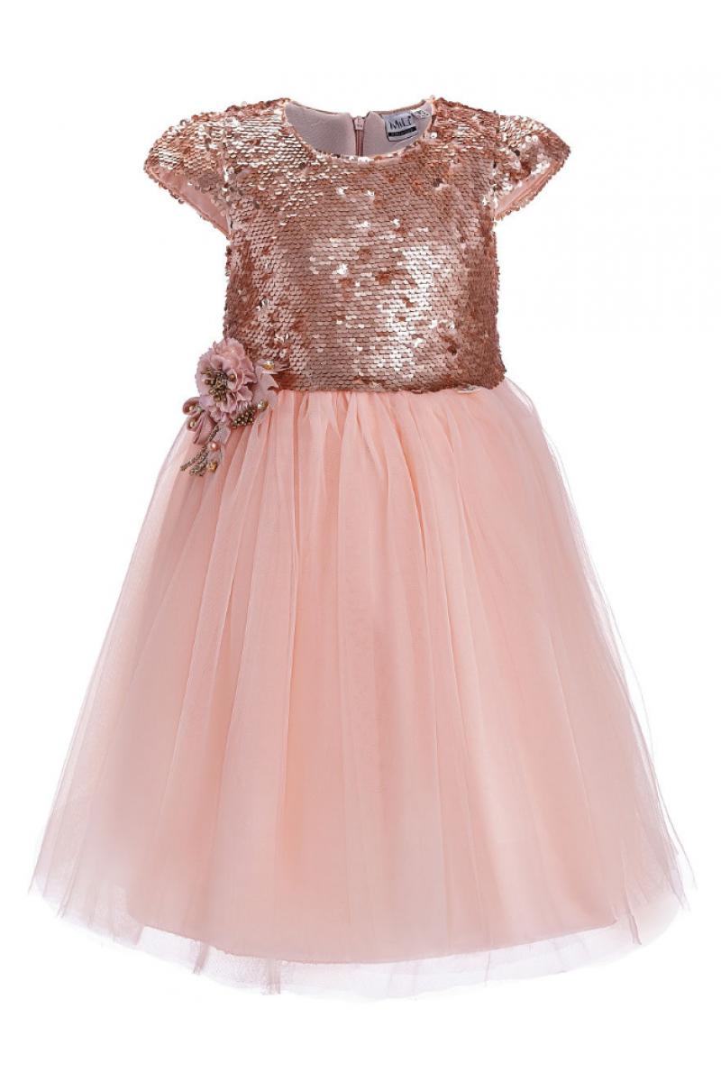 Современное модное платье розовое