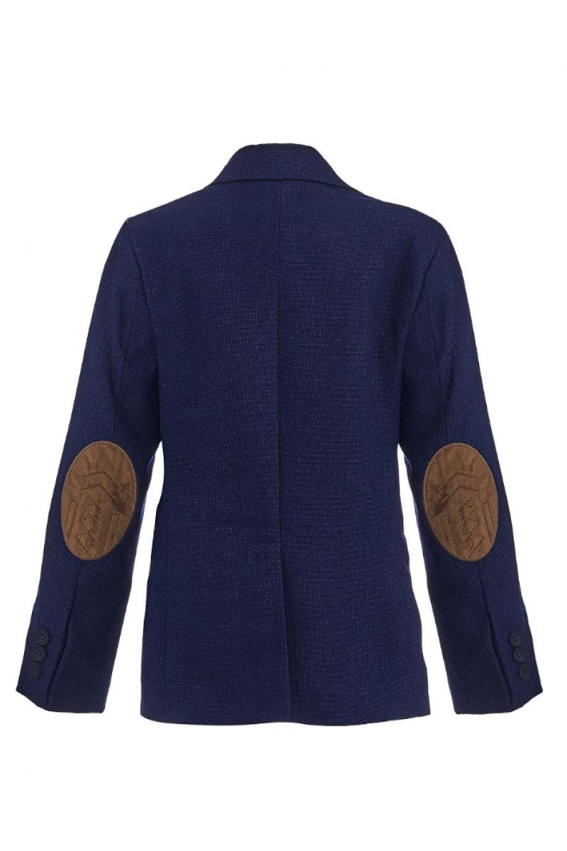 Пиджак для мальчика в комплекте с платком, светло-синий
