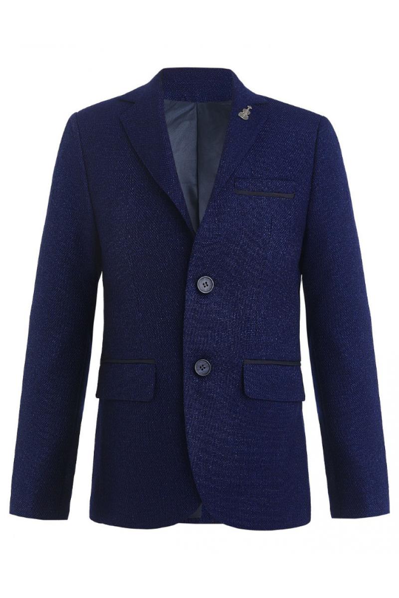 Пиджак для мальчика в комплекте с платком, синий