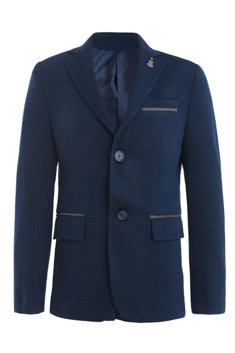 Пиджак для мальчика в комплекте с платком, темно-синий