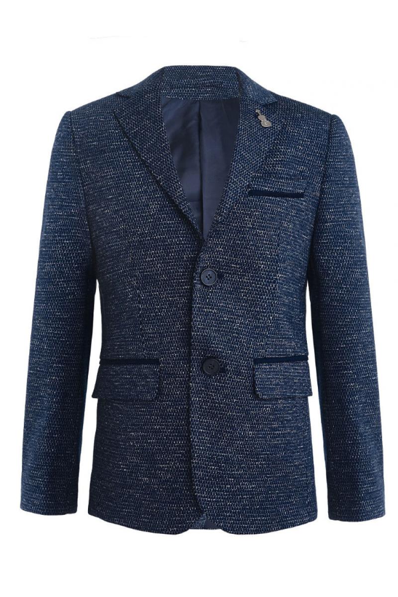 Пиджак для мальчика нарядный, темно-синий