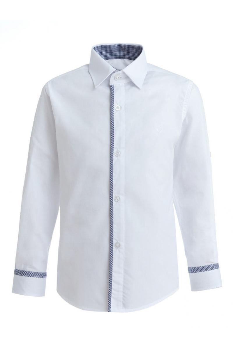 Однотонная рубашка со вставкой, белая