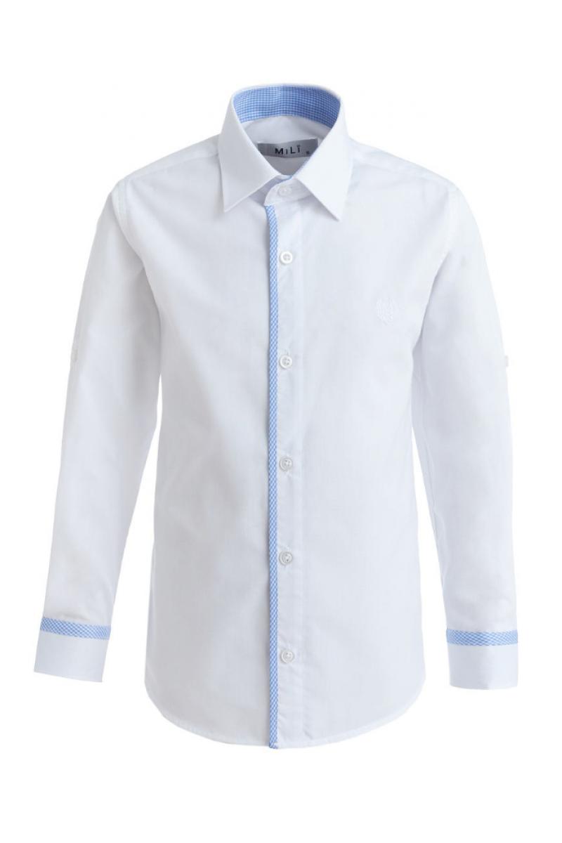 Рубашка однотонная, белая