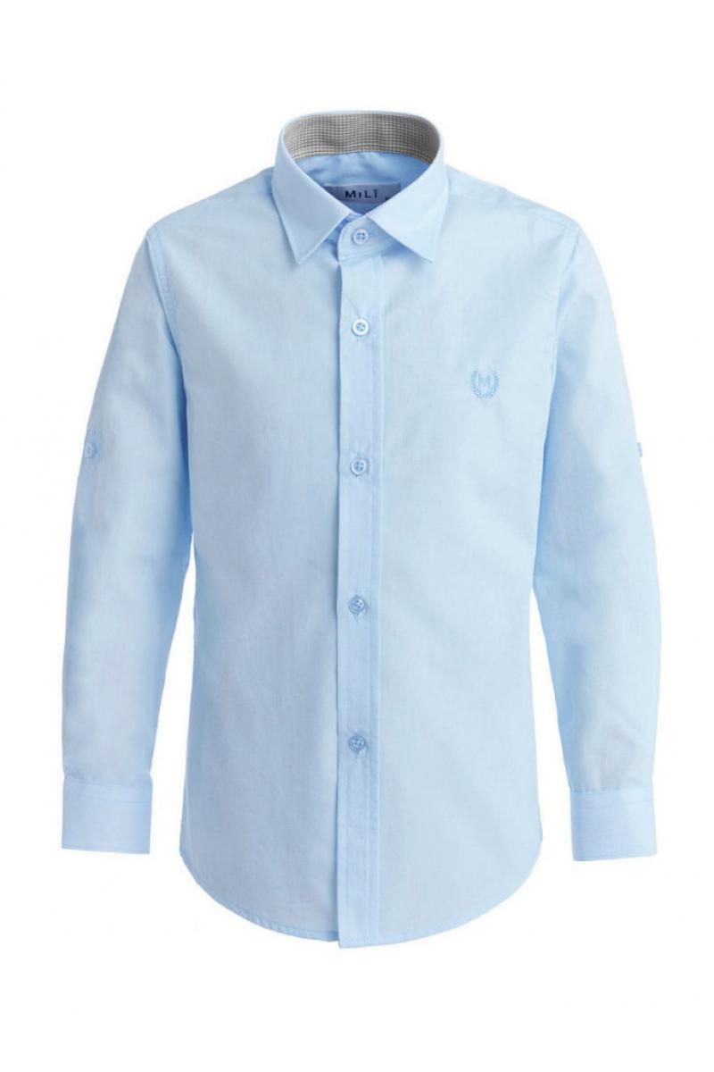 Рубашка однотонная, голубая