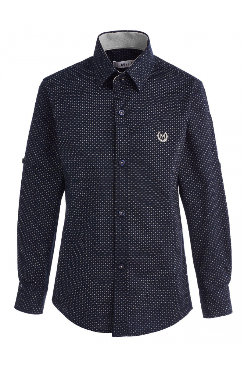 Рубашка с вышивкой черного цвета