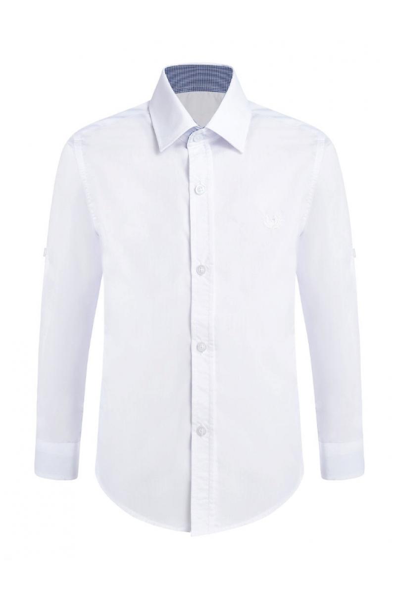 Рубашка однотонная белого цвета