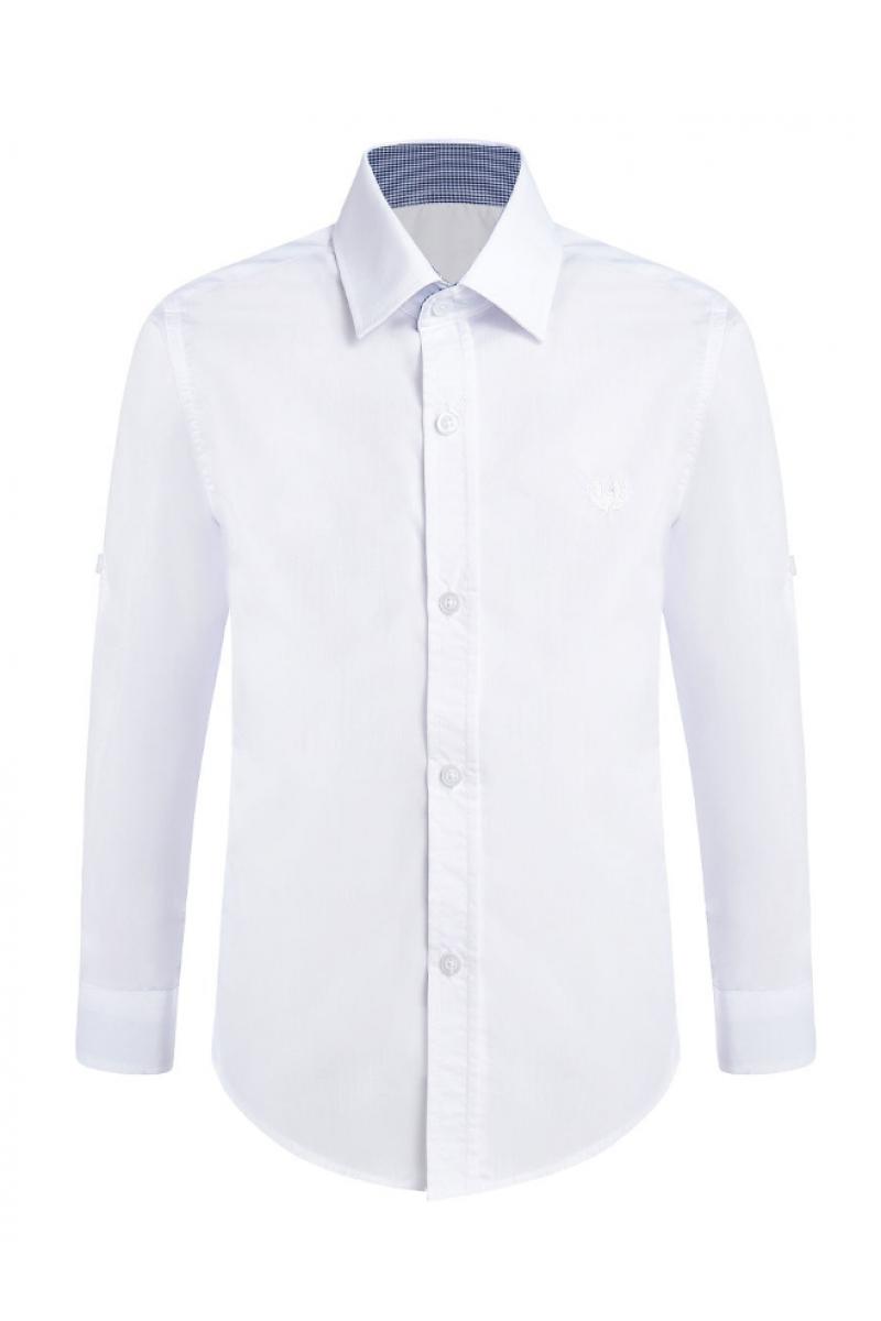 Рубашка однотонная голубая