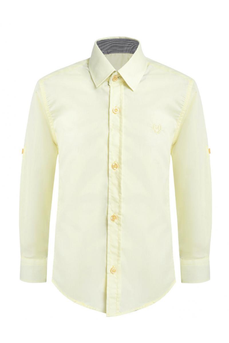 Рубашка однотонная желтая