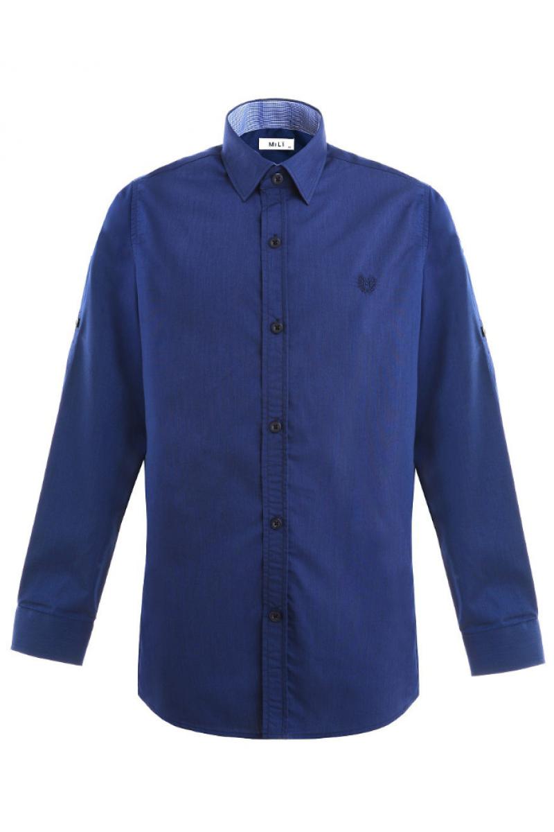 Рубашка однотонная сине-фиолетовая