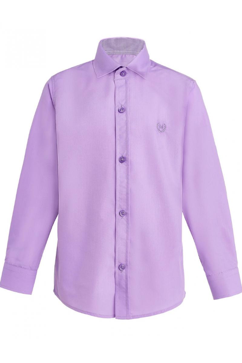 Рубашка однотонная сиреневая