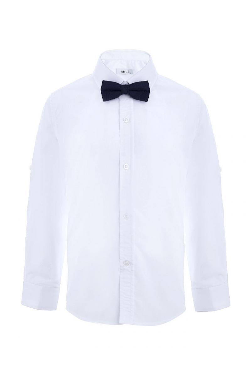 Рубашка с бабочкой белая