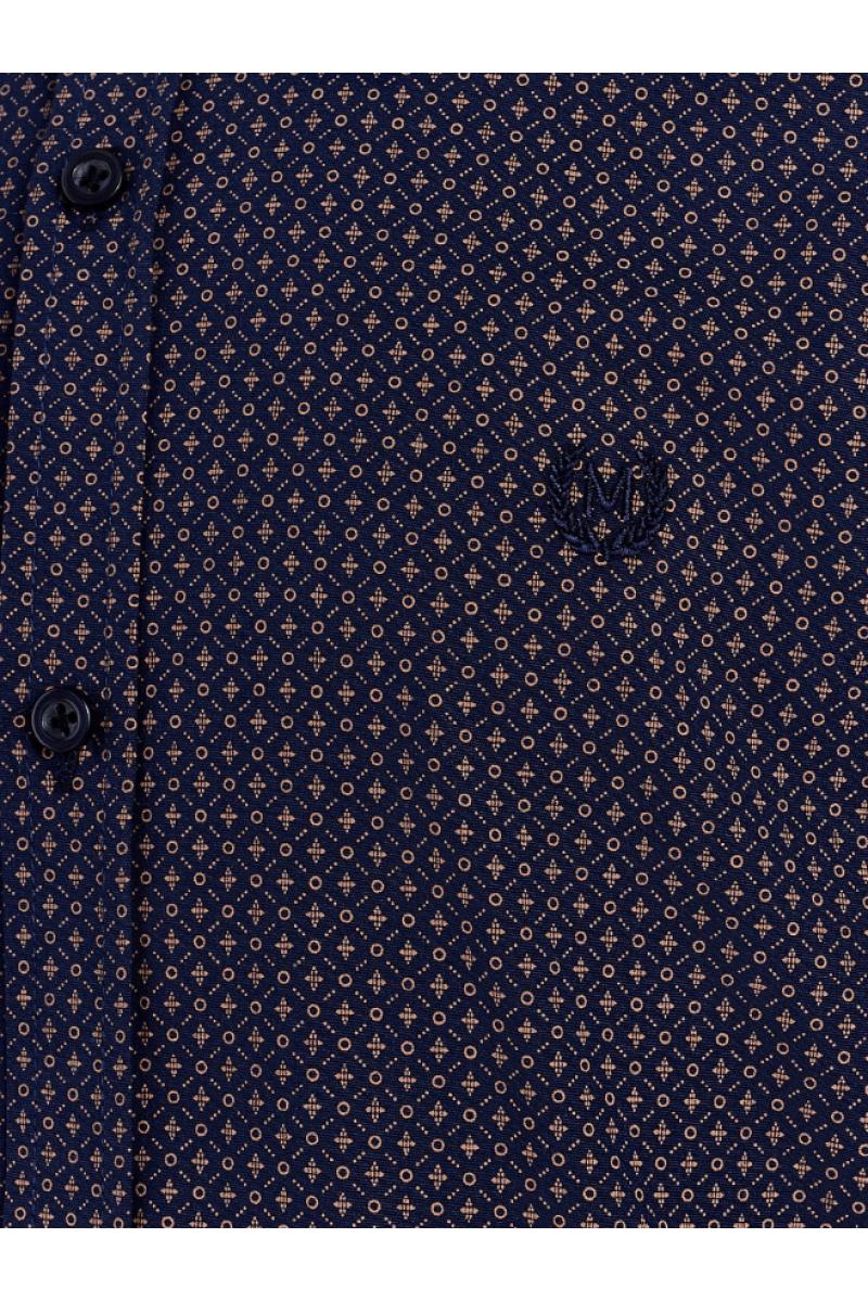 """Рубашка для мальчика """"геометрия"""" темно-синяя"""