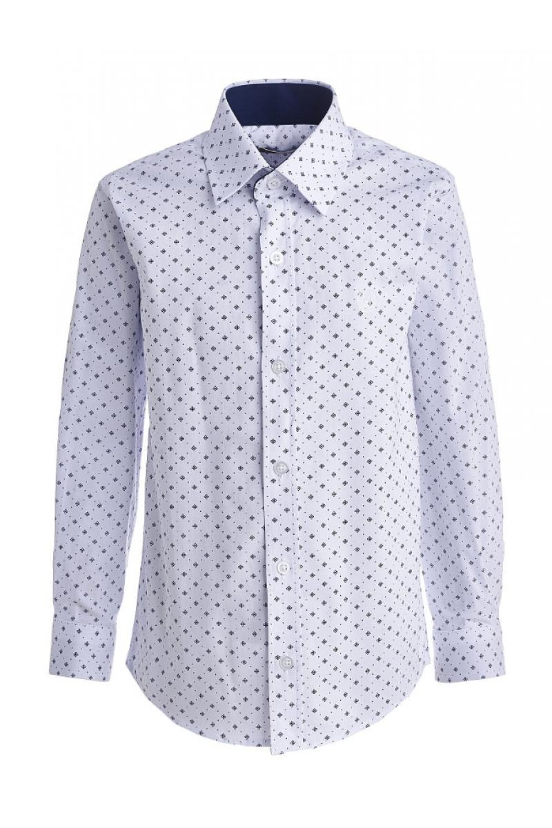 Рубашка с изображением цветочков белая