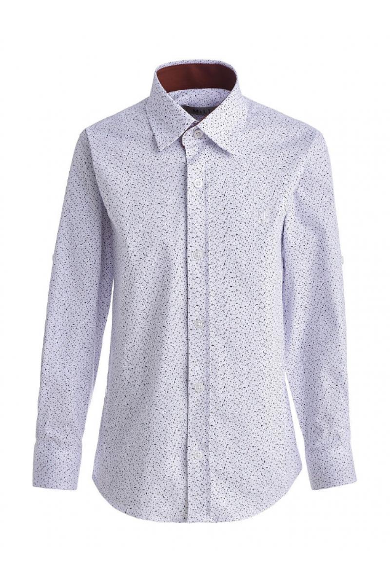 Рубашка с изображением маленьких галочек белая