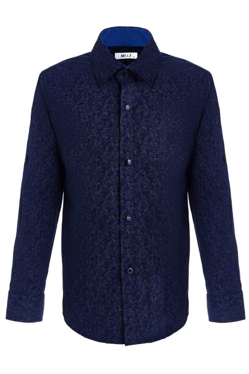 Синяя рубашка для мальчика