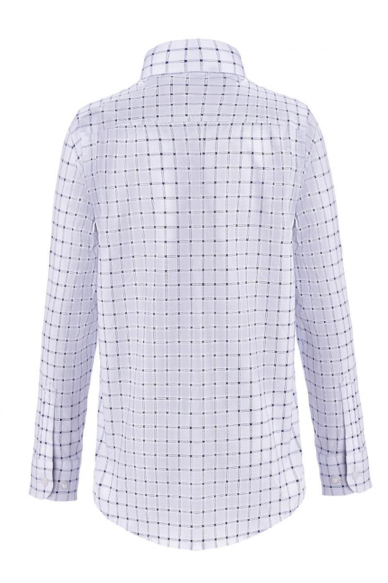 Рубашка в клеточку для мальчика белого цвета