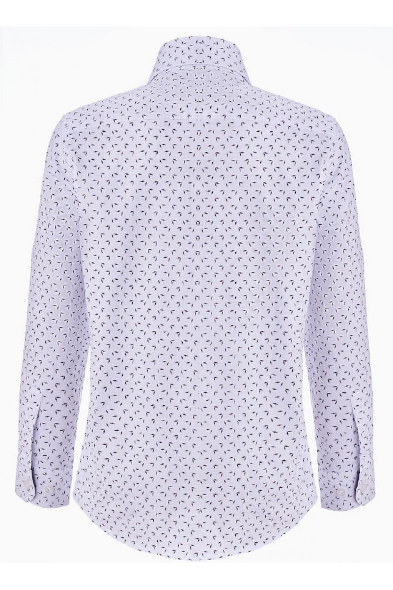 Рубашка для мальчика с узорами белая