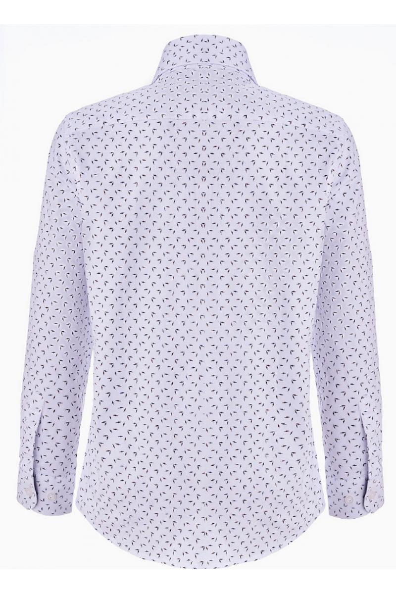 Рубашка для мальчика с узорами белого цвета