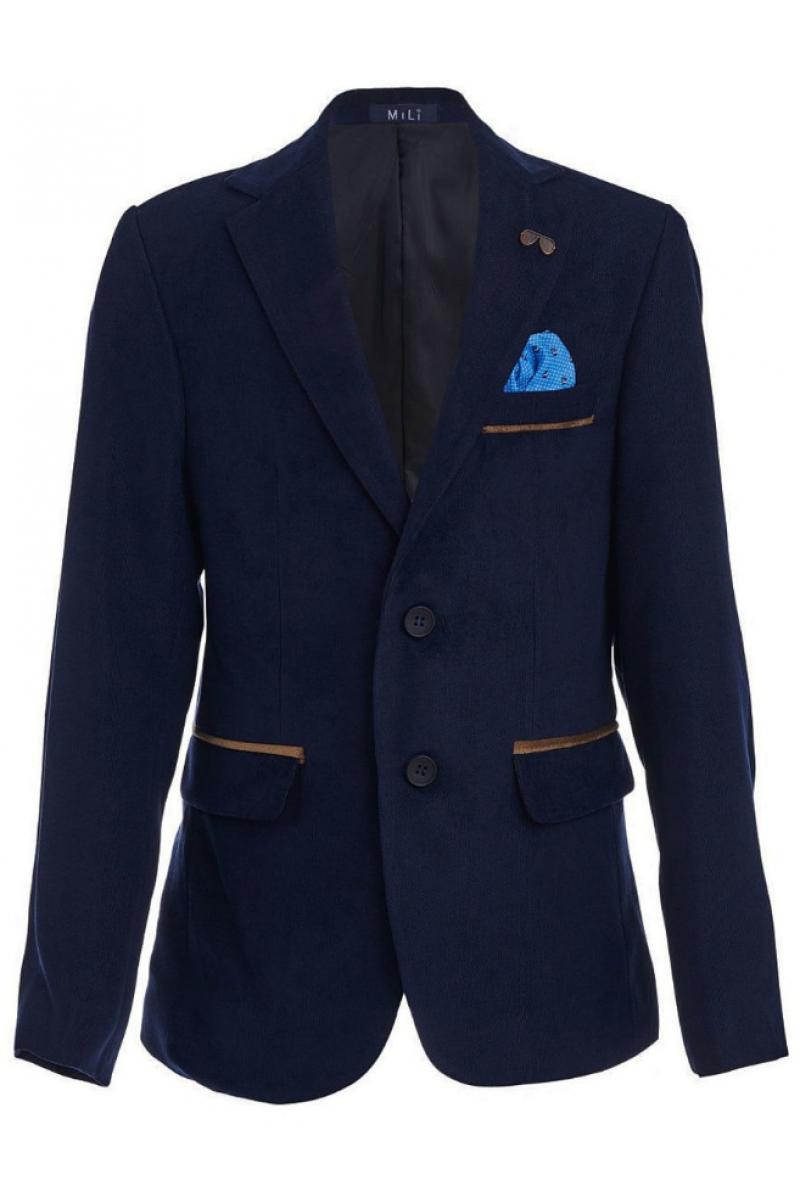 Пиджак для мальчика нарядный, синий