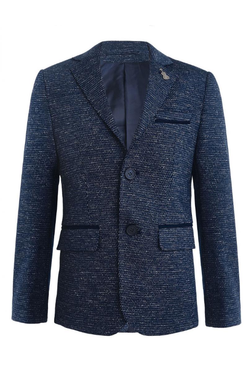 Стильный пиджак для мальчика, темно-синий