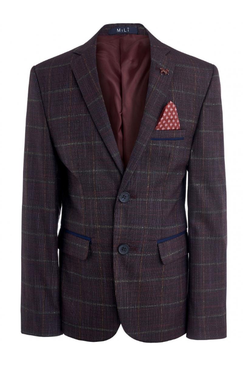 Пиджак для мальчика нарядный бордового цвета