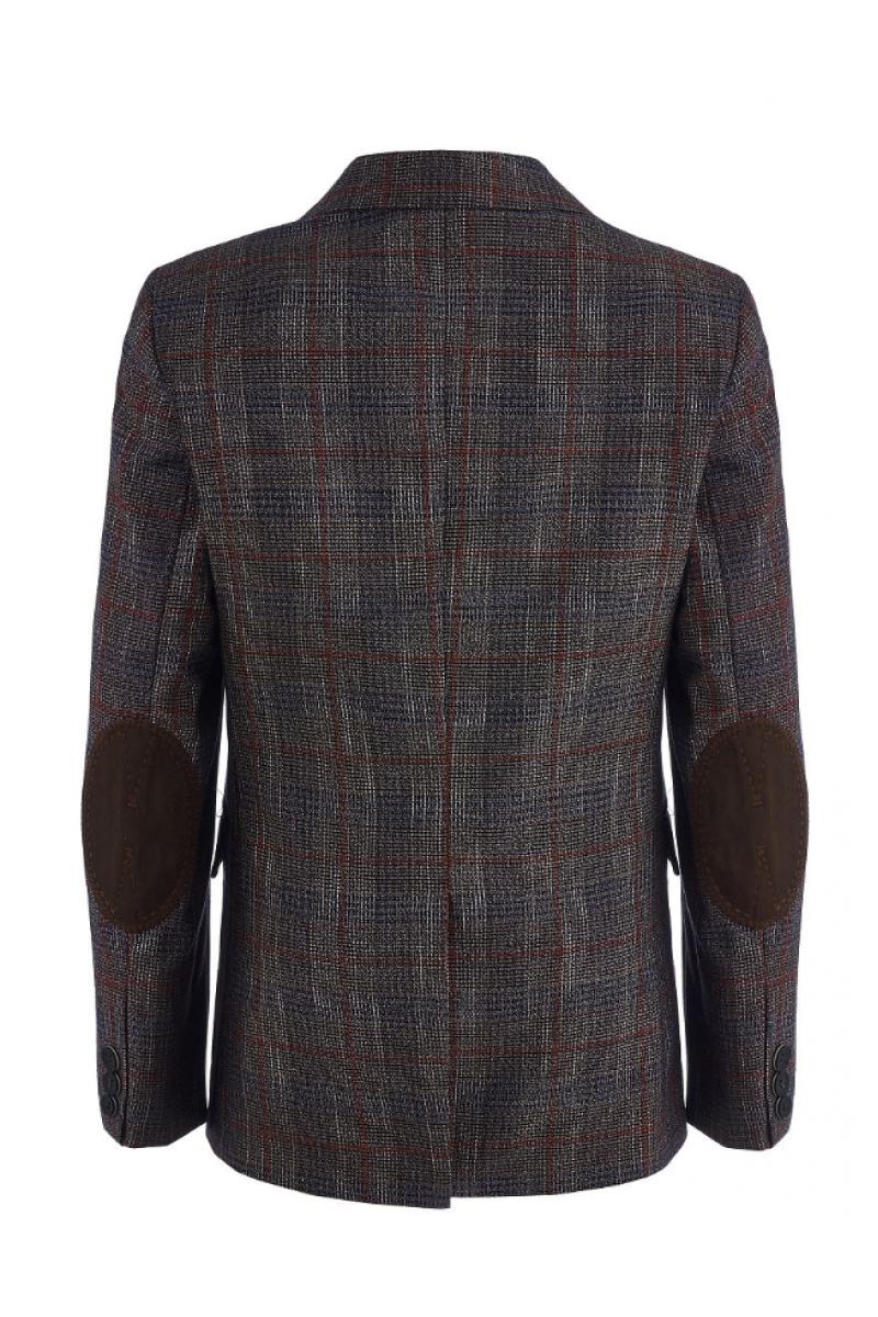 Приталенный нарядный пиджак для мальчика, разноцветный