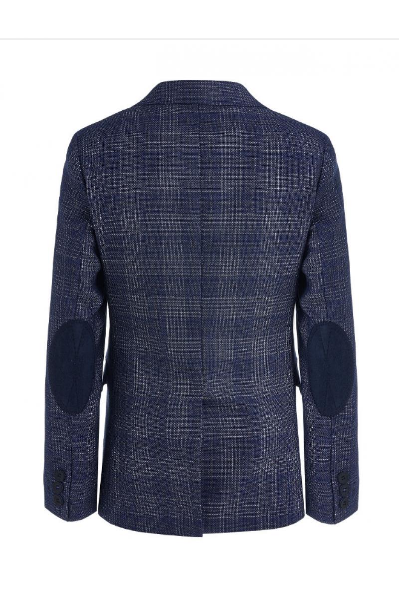 Приталенный нарядный пиджак для мальчика, светло-синий