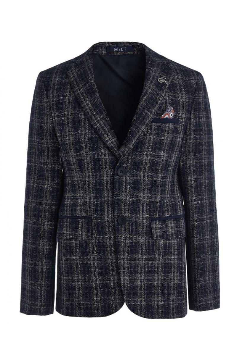 Элегантный пиджак для мальчика нарядный синего цвета