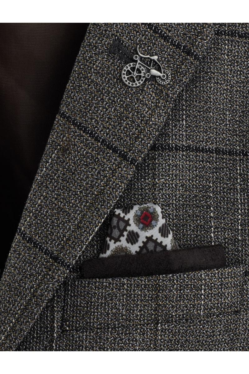 Приталенный пиджак для мальчика серого цвета