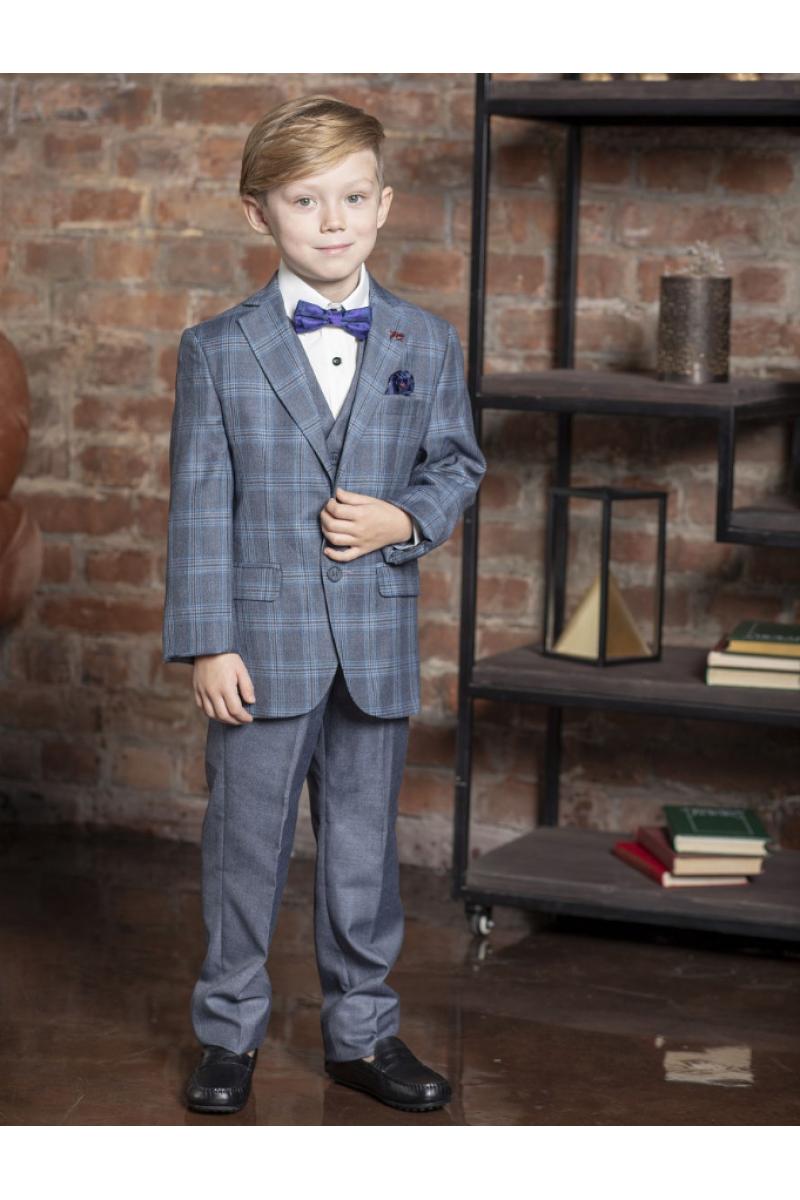 Костюм для мальчика модный приталенный серый