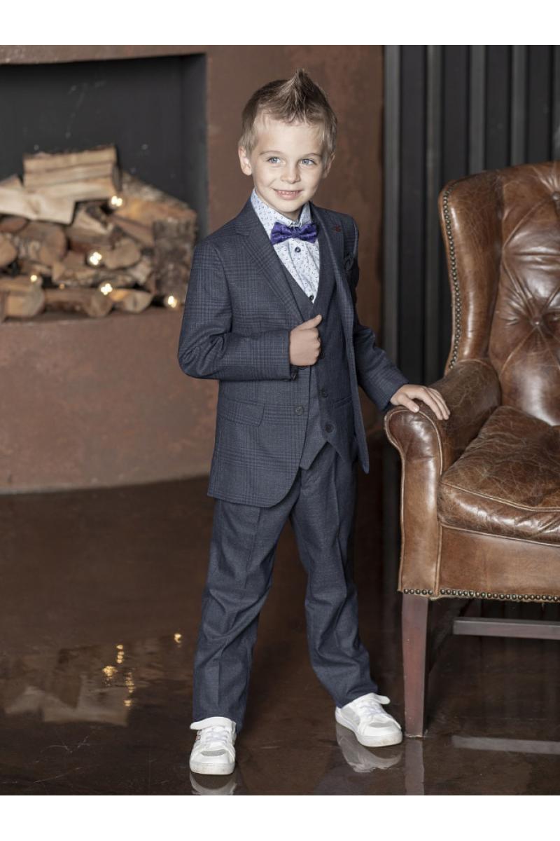 Костюм для мальчика стильный по фигуре, темно-серый