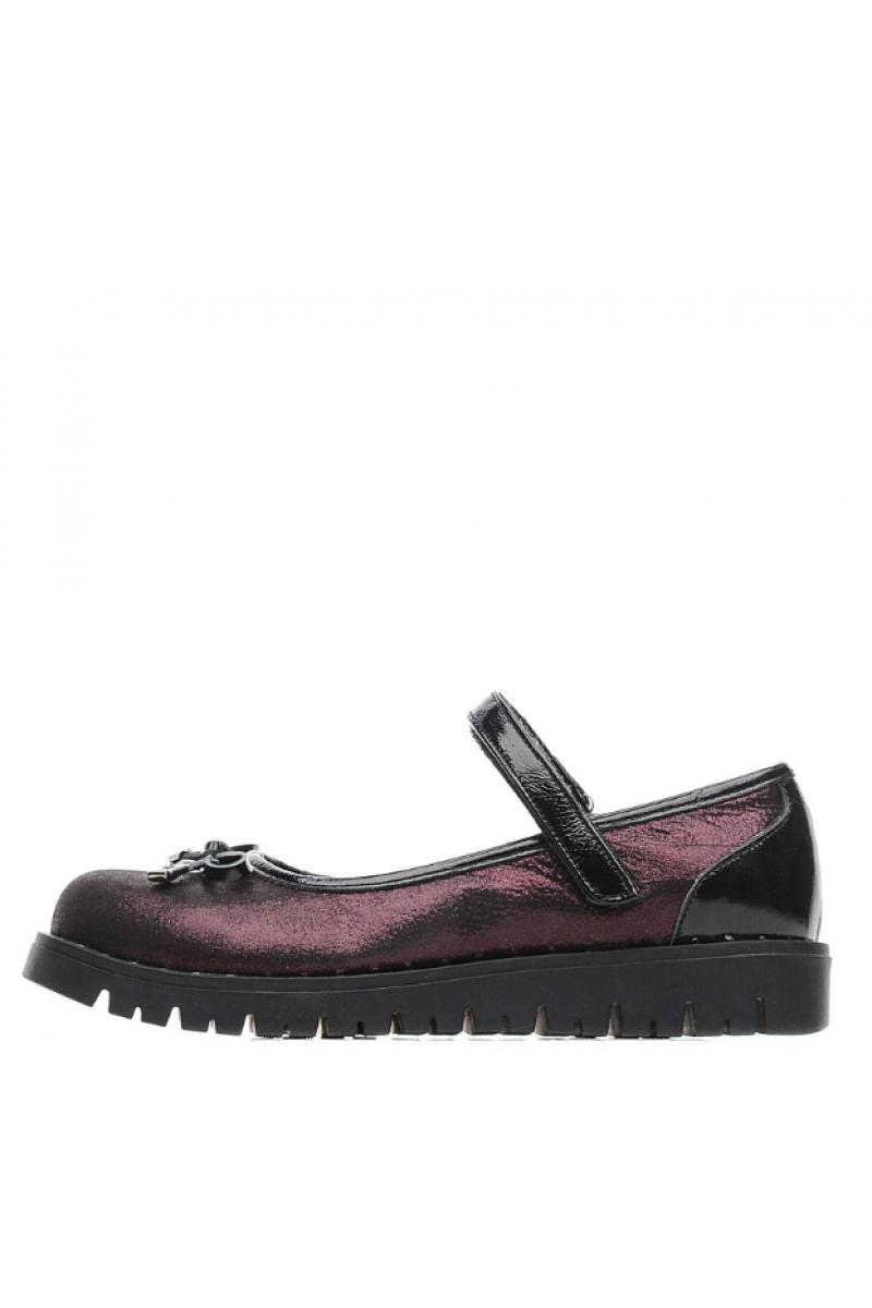 Туфли для девочки бордовые