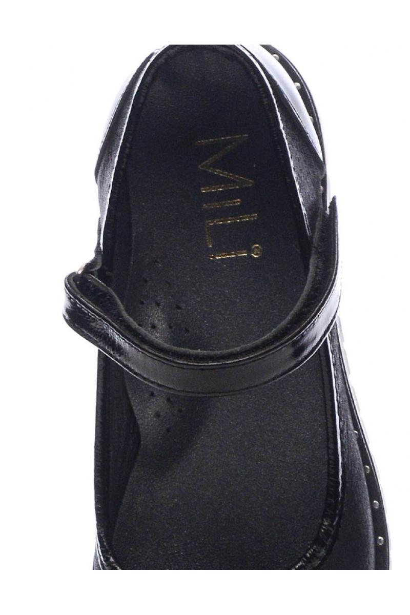 Туфли для девочки с бантиком, синие