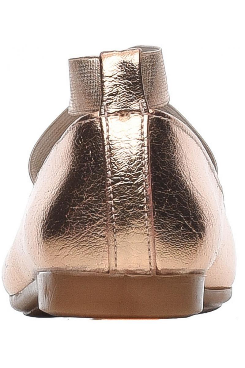 Туфли для девочки бронзовые