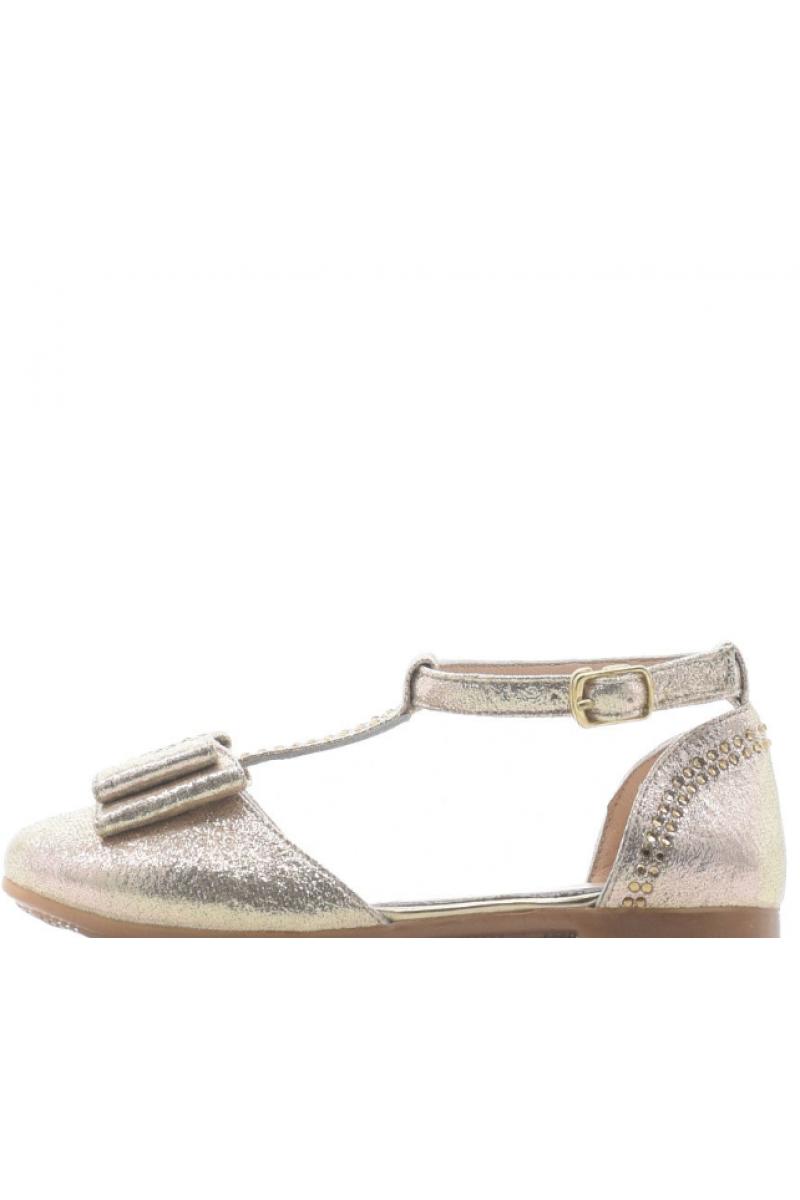 Туфли для девочки золотые