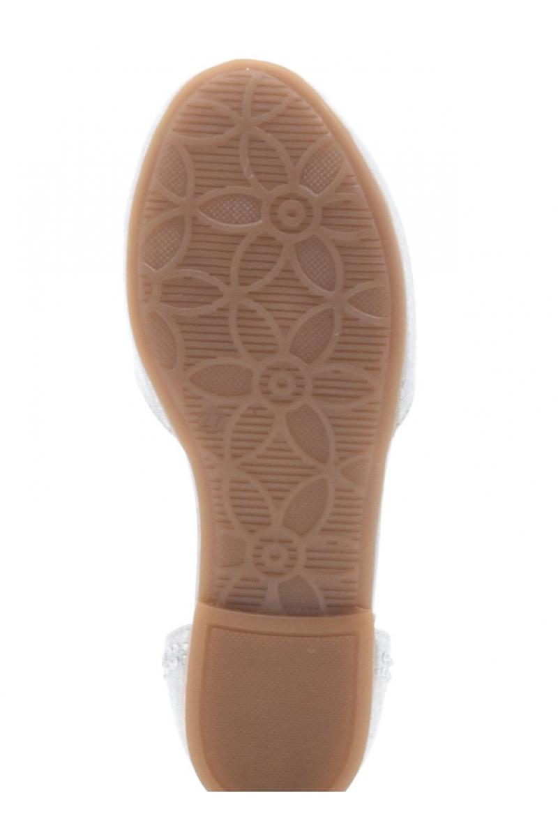 Туфли для девочки серебристые