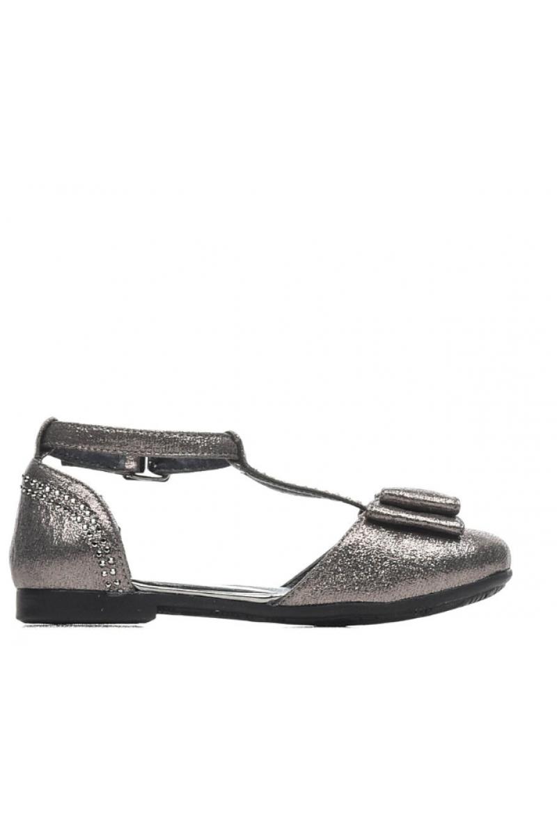 Туфли для девочки серые
