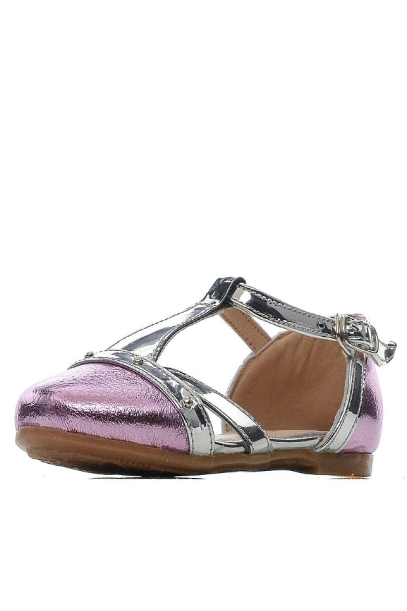 Открытые туфли для девочки, розовые